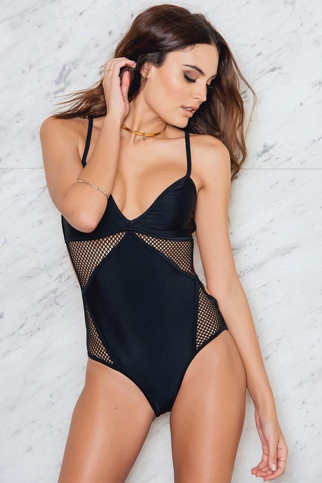 Mesh Swimsuit Black