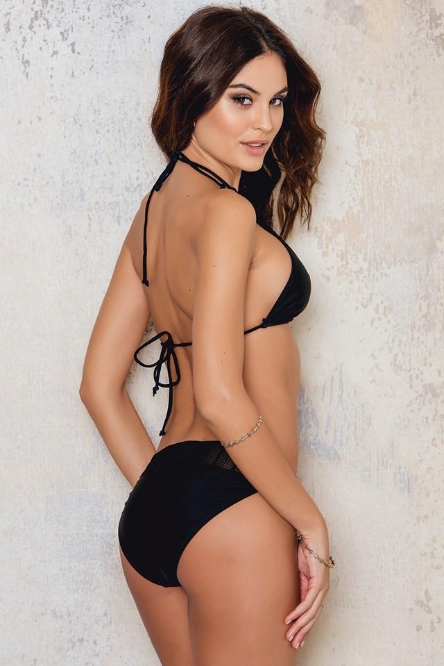 Crochet Bikini Bottom Black