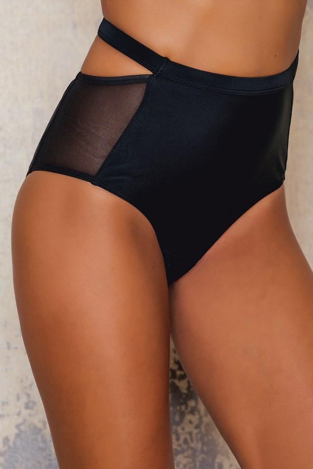 High Waist Mesh Bikini Bottom NA-KD.COM