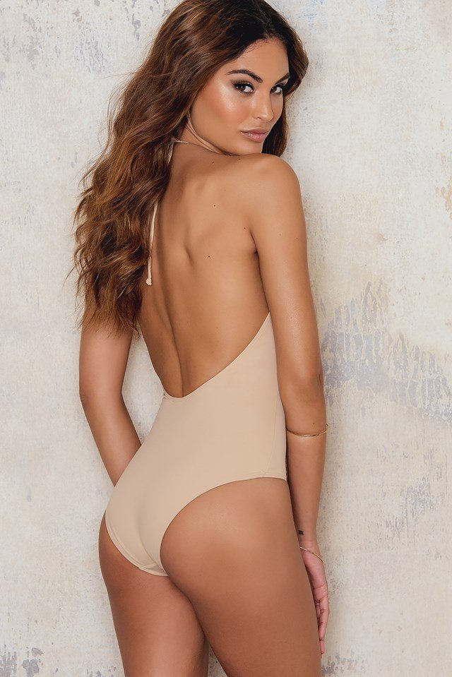 Deep Front Swimsuit Nude