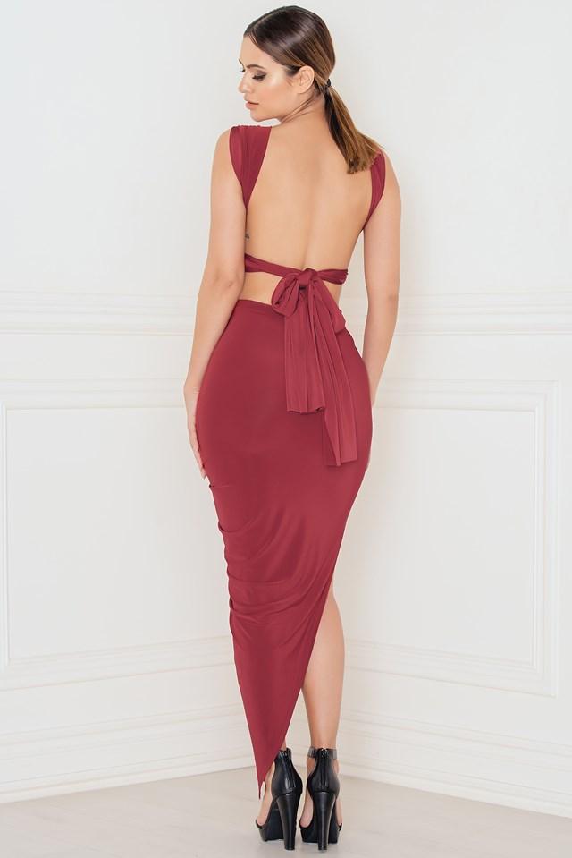 Do It Your Way Turn Up Dress Burgundy Berry