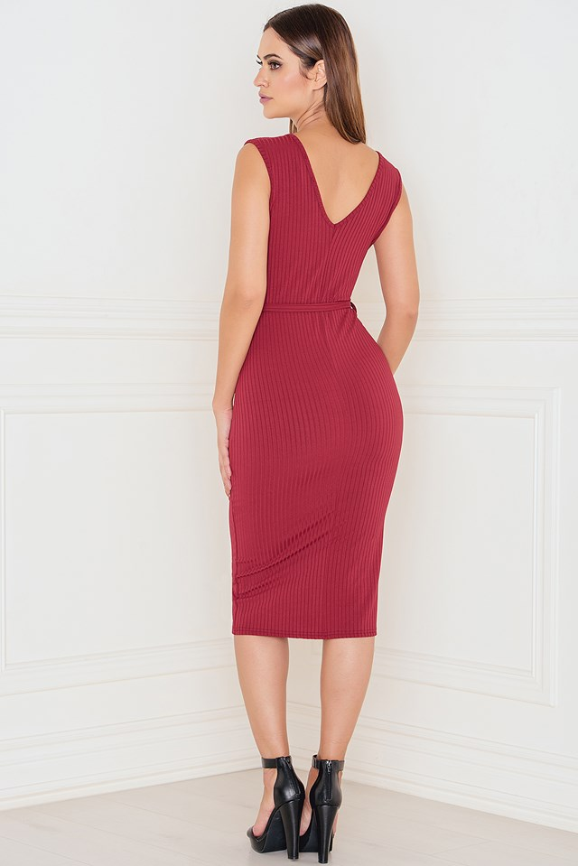 Total Knockout Ribbed Bodycon Dress NA-KD.COM