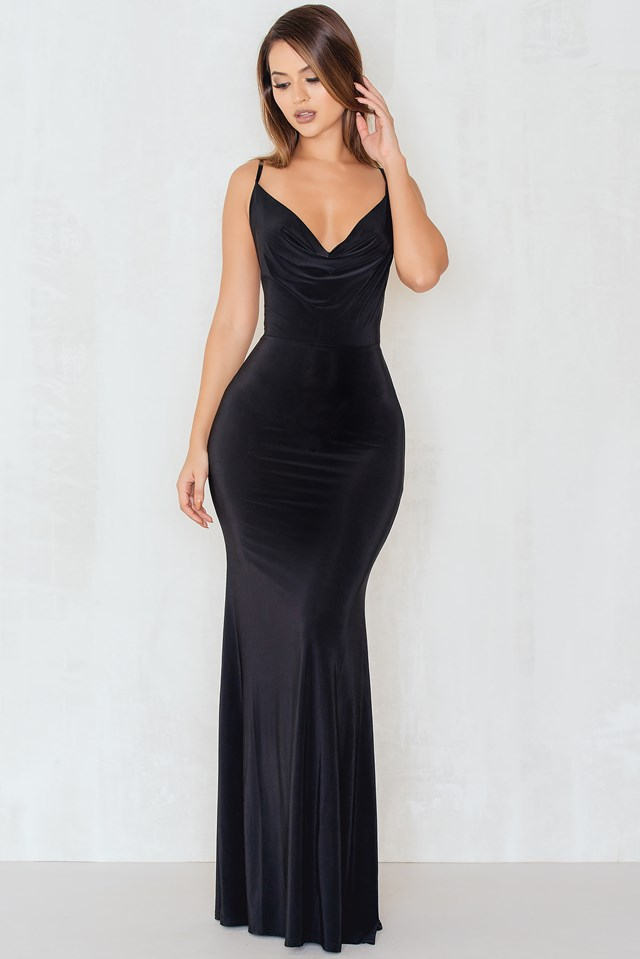 The Red Carpet Maxi Dress Black
