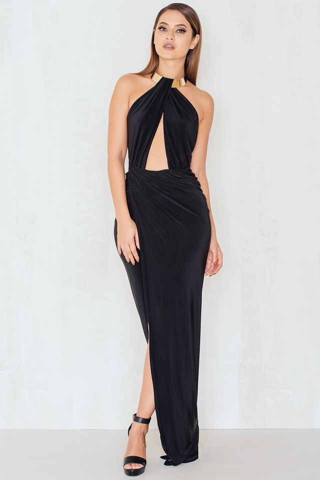 Caught In A Choker Maxi Dress Black
