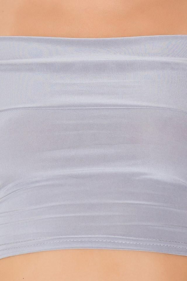 In The Trend Zone Crop Top & Crop Legging Set Grey Tint