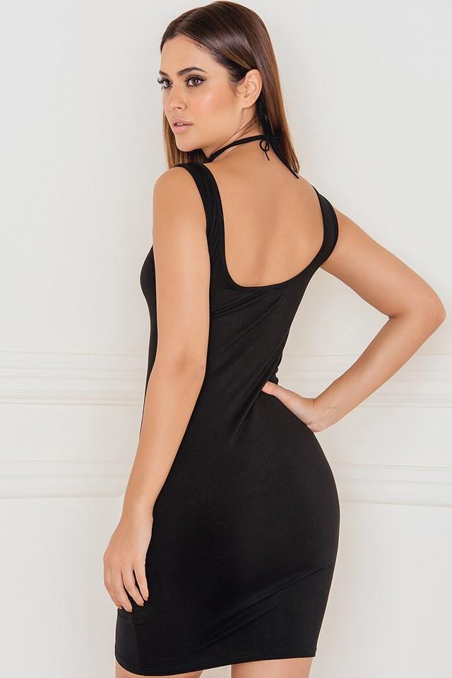 Get the Scoop Tank Mini Dress Black