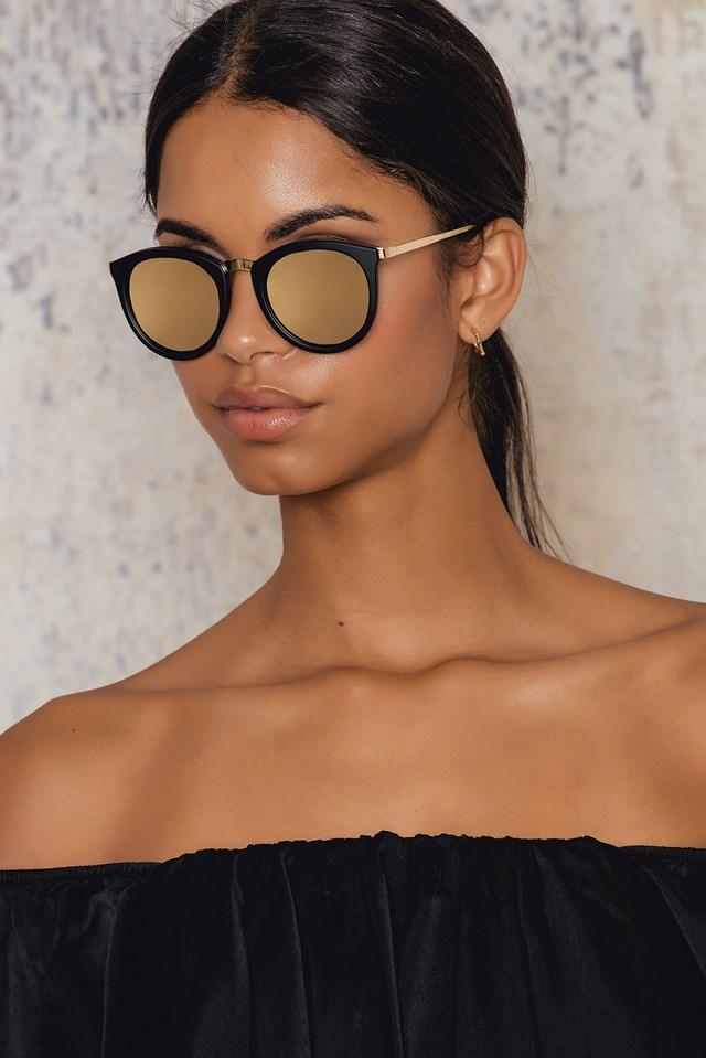 Okulary przeciwsłoneczne No Smirking Matte Black/Gold