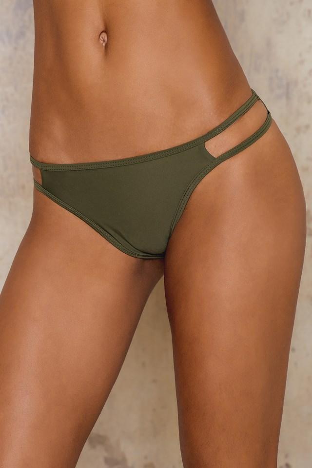 Army Green Sporty High Neck Bikini Set – Top Army Green