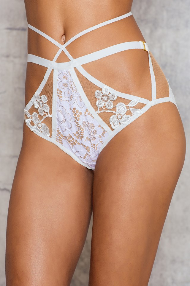 Ruby Cross Front Panty White