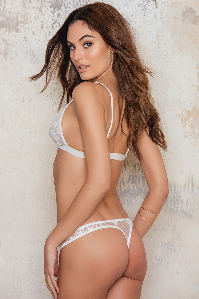 Lace Thong White