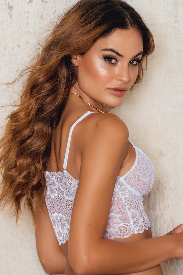 Lace Bustier White
