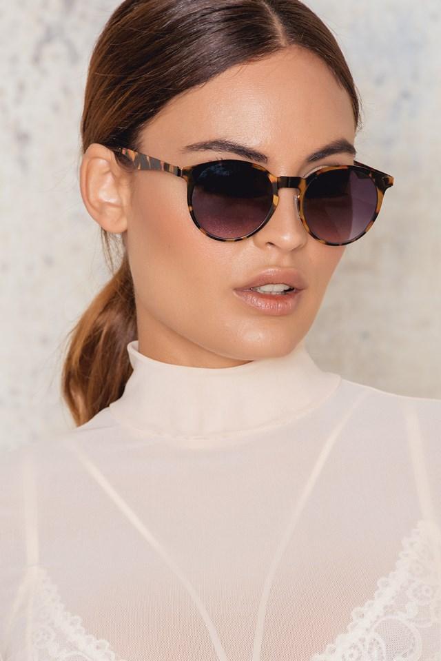 Round Shaped Sunglasses Leopard