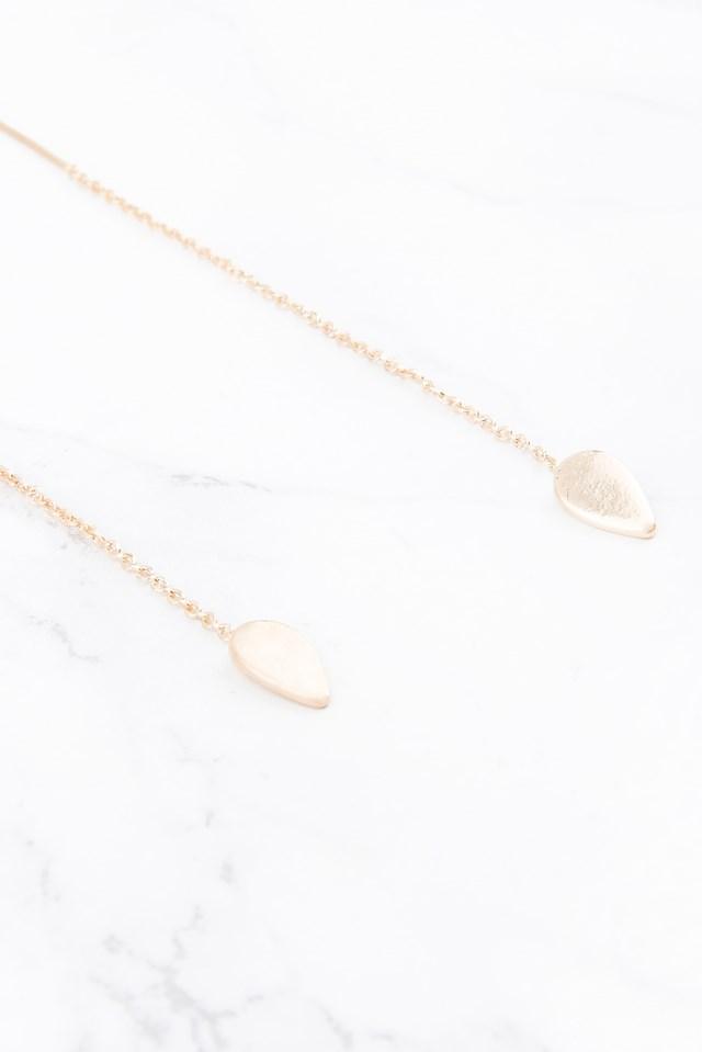 Small Drop Earrings Gold