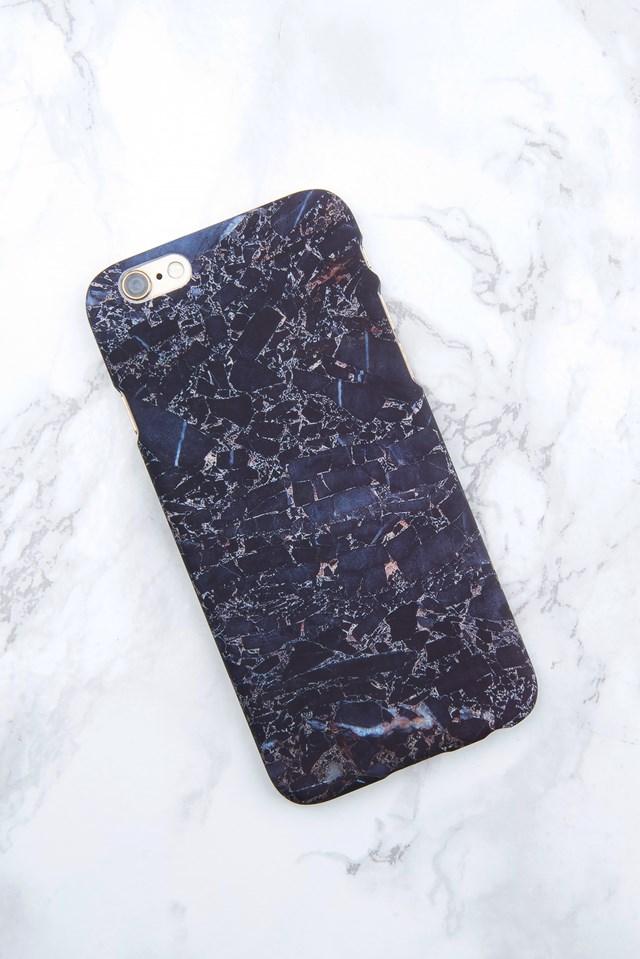 Iphone Case 6/6S Dark blue terrazzo