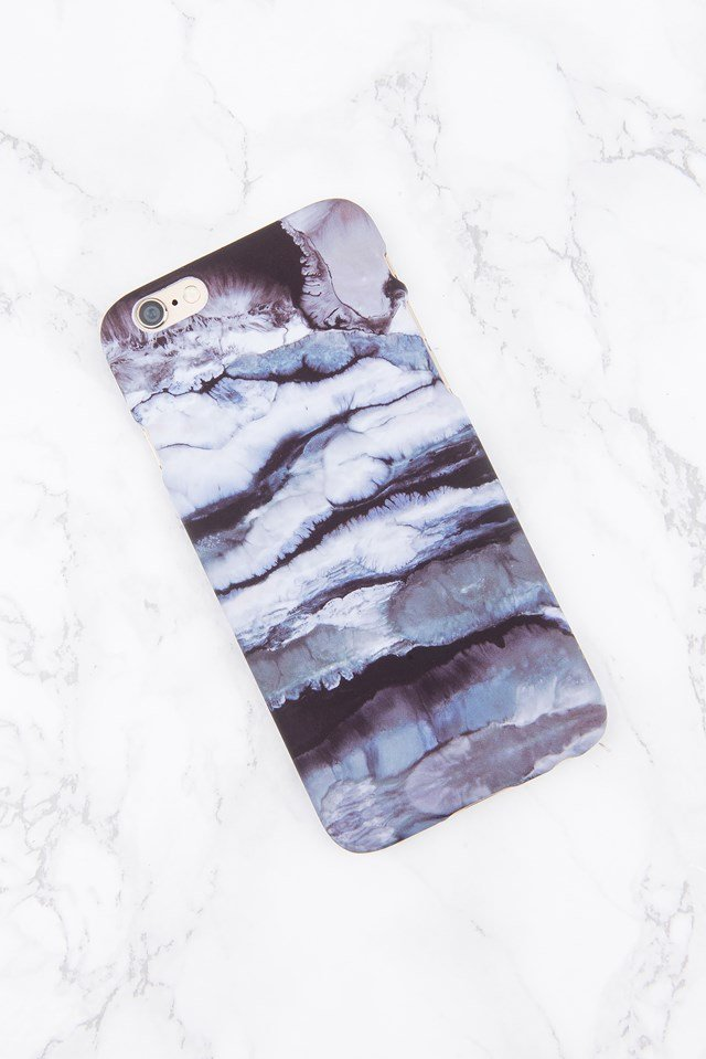 Iphone Case 6/6S Blue/Grey Marble
