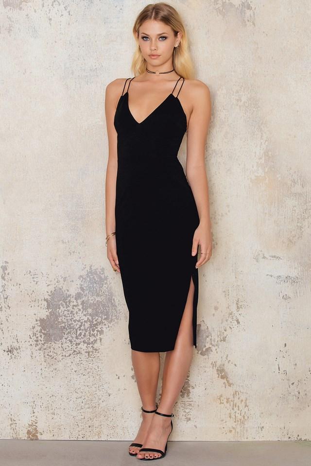 Double Strap Dress Black