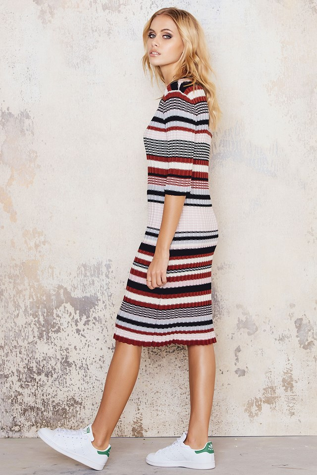 Knitted Colorful Striped Dress NA-KD.COM