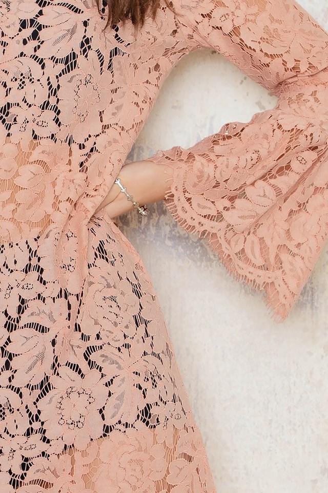 Trumpet Sleeve Lace Dress NA-KD.COM