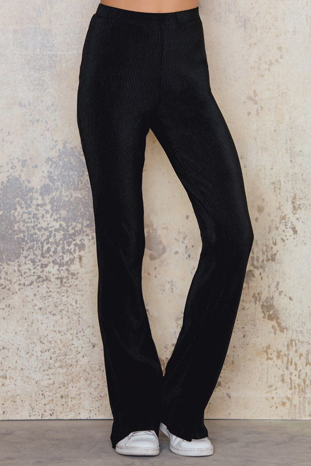 Pleated Jazz Trousers Black