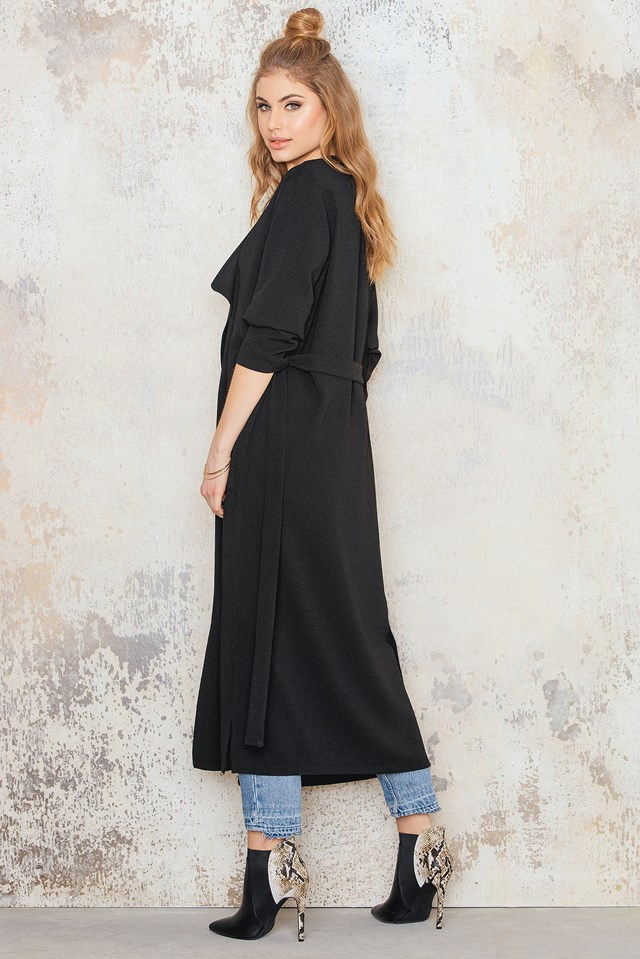 Structured Trench Coat Black