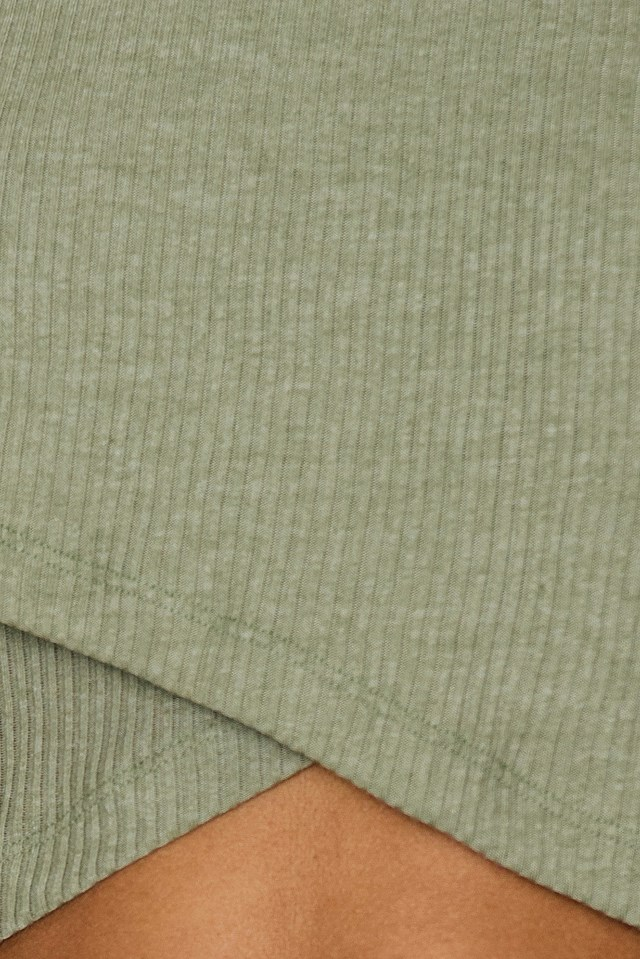 Wide Sleeve Top Olive Green