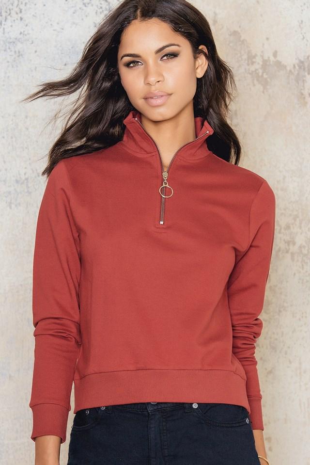Front Zip Sweatshirt Burgundy