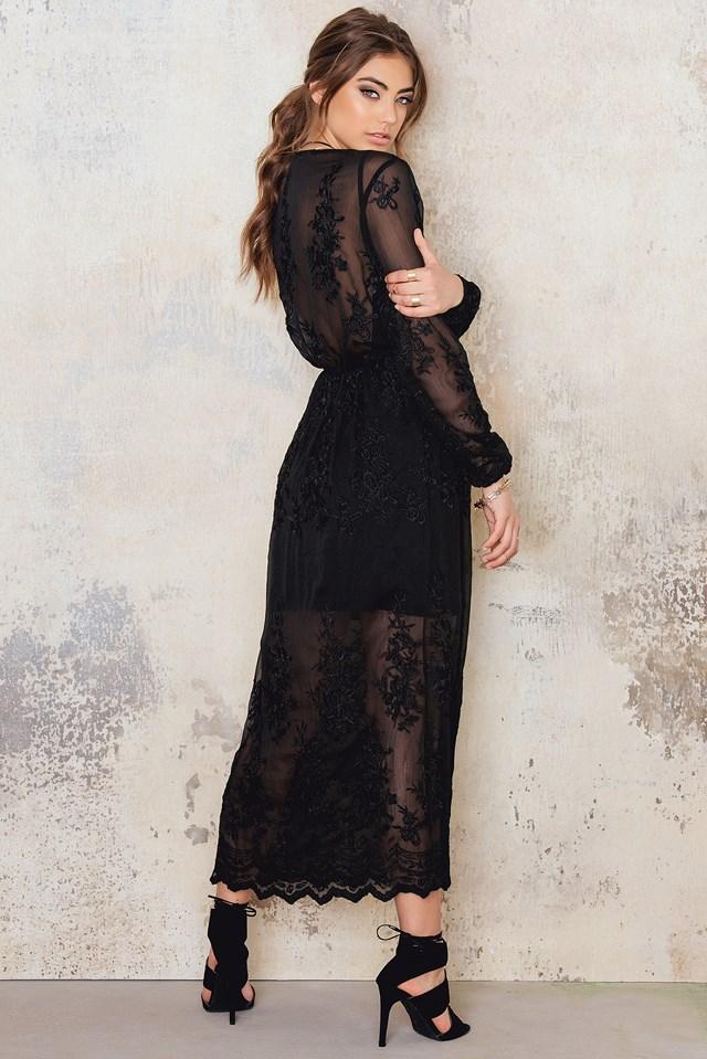 Lace Maxi Dress Black