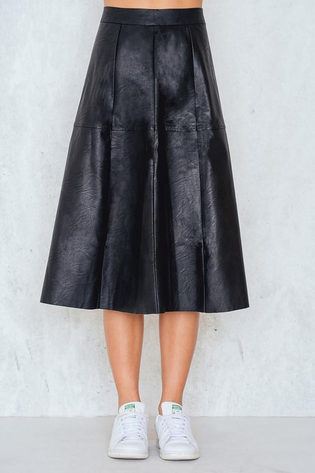 A-line Midi Skirt Black