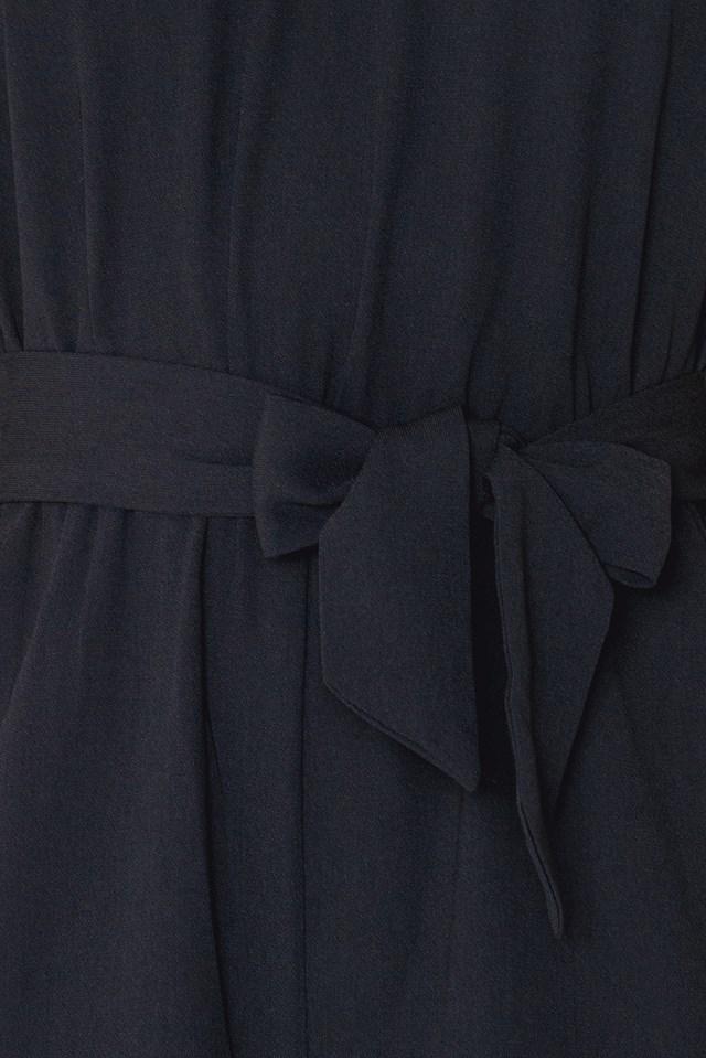 Culotte Tie Neck Jumpsuit Black