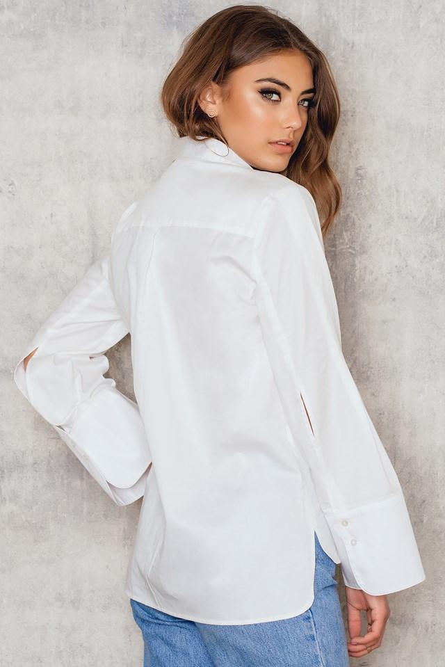 Wide Sleeve Shirt White