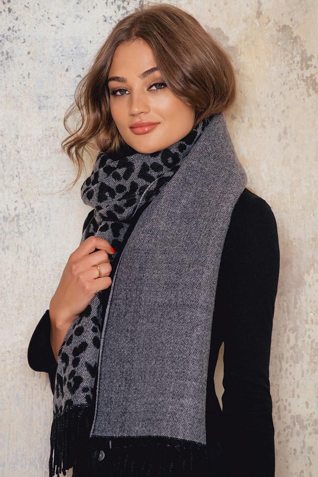 Tanja leo scarf Grey/Black
