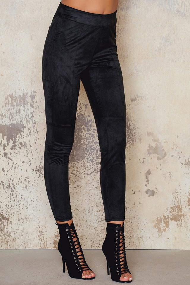 Suede Pants Black