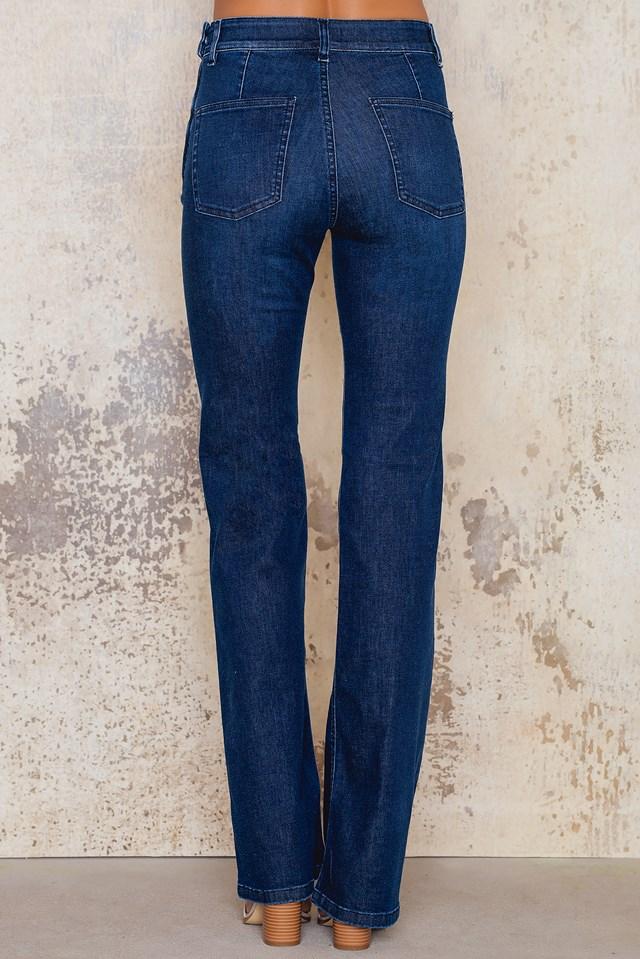 Lily Pocket Jeans Dark Blue