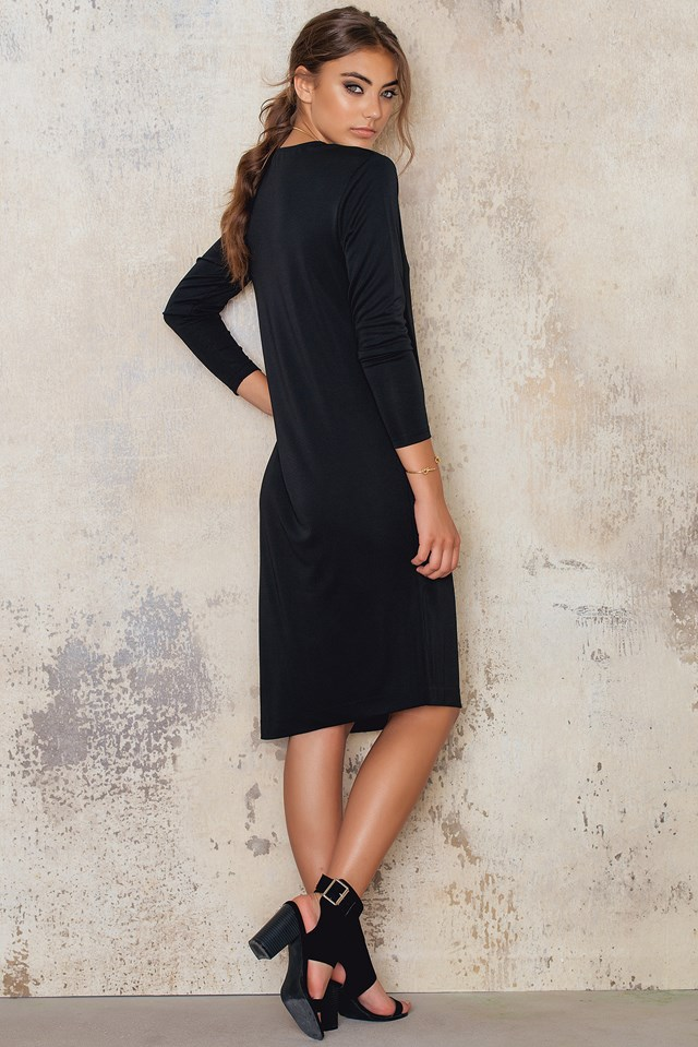 Jersey Tunic Dress Black