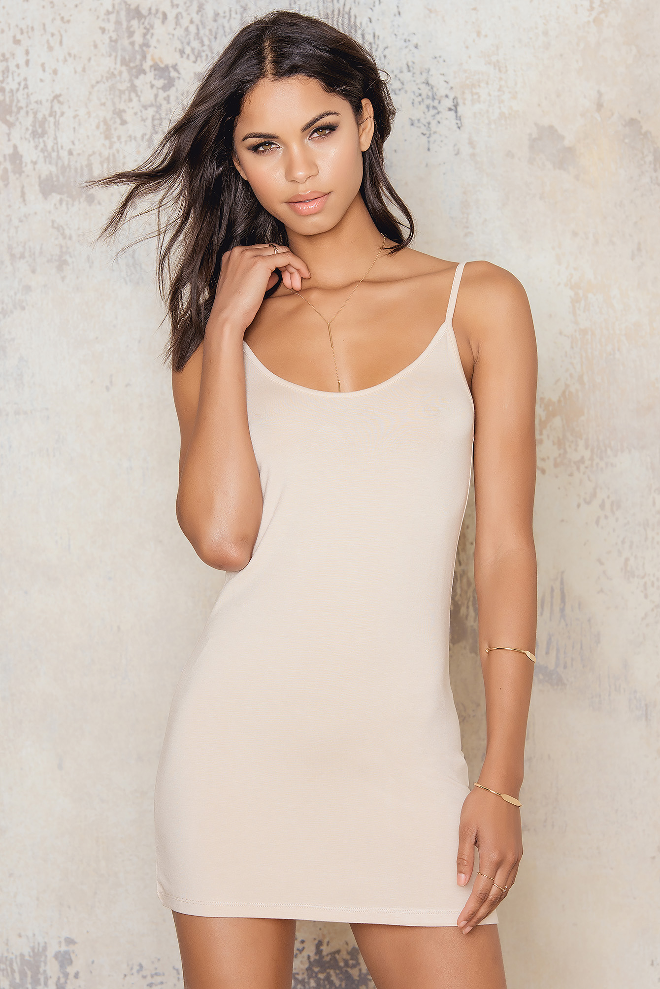 Nude NA-KD Basic Dress