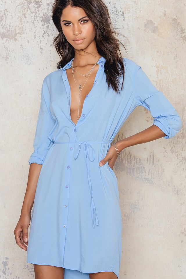 Lisen dress Powder blue