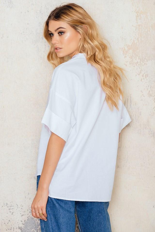 Cotton Iris Blouse White