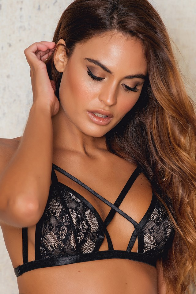 Harness Strap Bralet Black