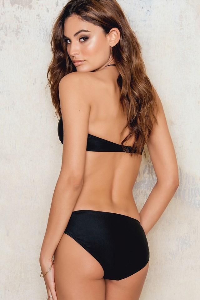 Criss Cross Bottom Bikini Black