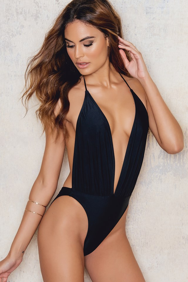 Star Bright Swimsuit Nylon Black