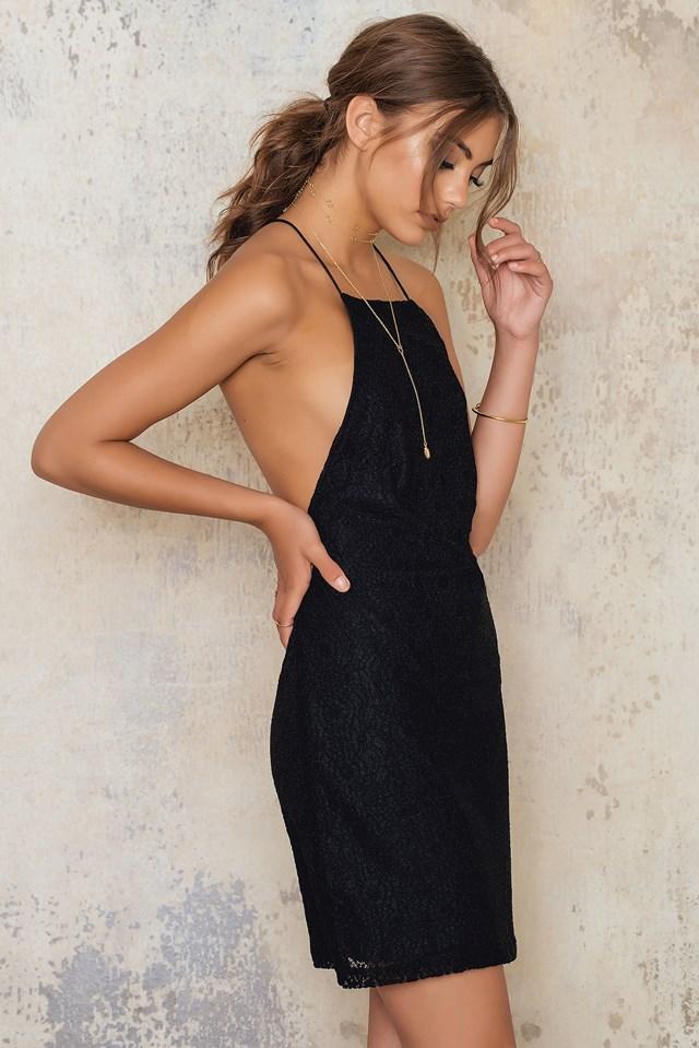 Aldercey Slip Dress Black