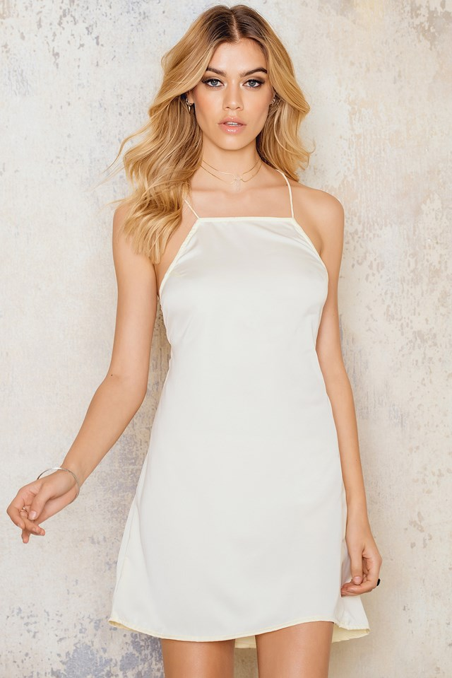 Char Slip Dress Bone