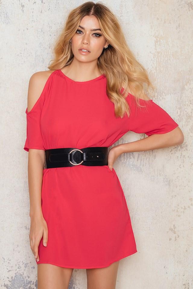 Savannah Dress Soft Red