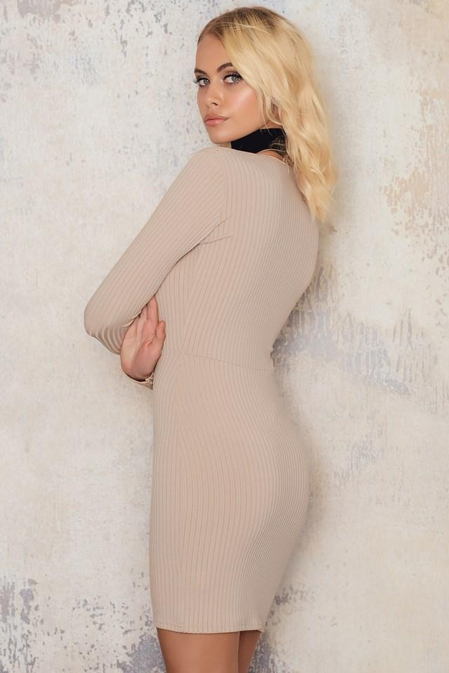 Lynette Dress Nude