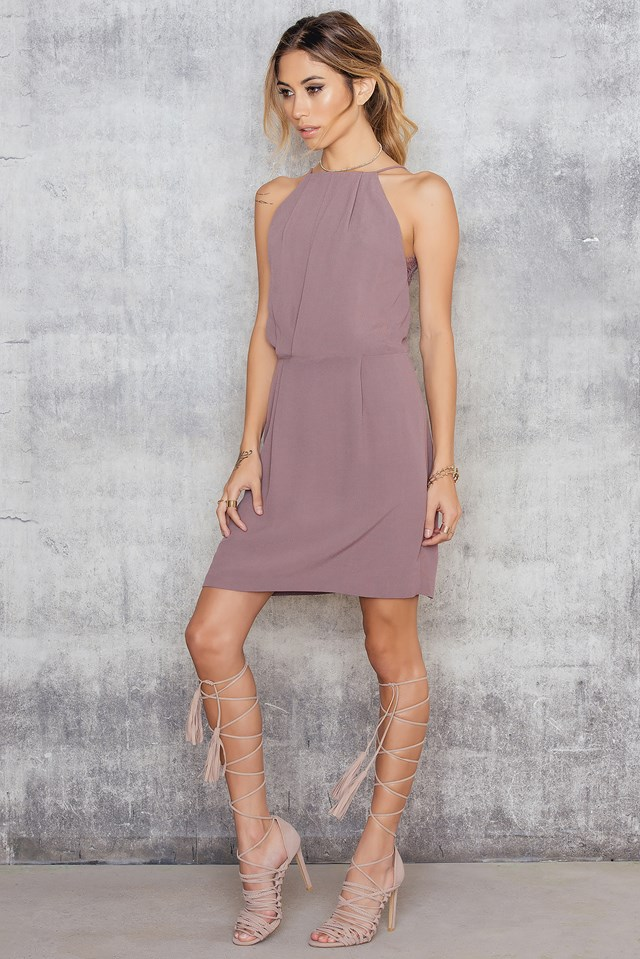 Willow Short Dress Twilight Mauve