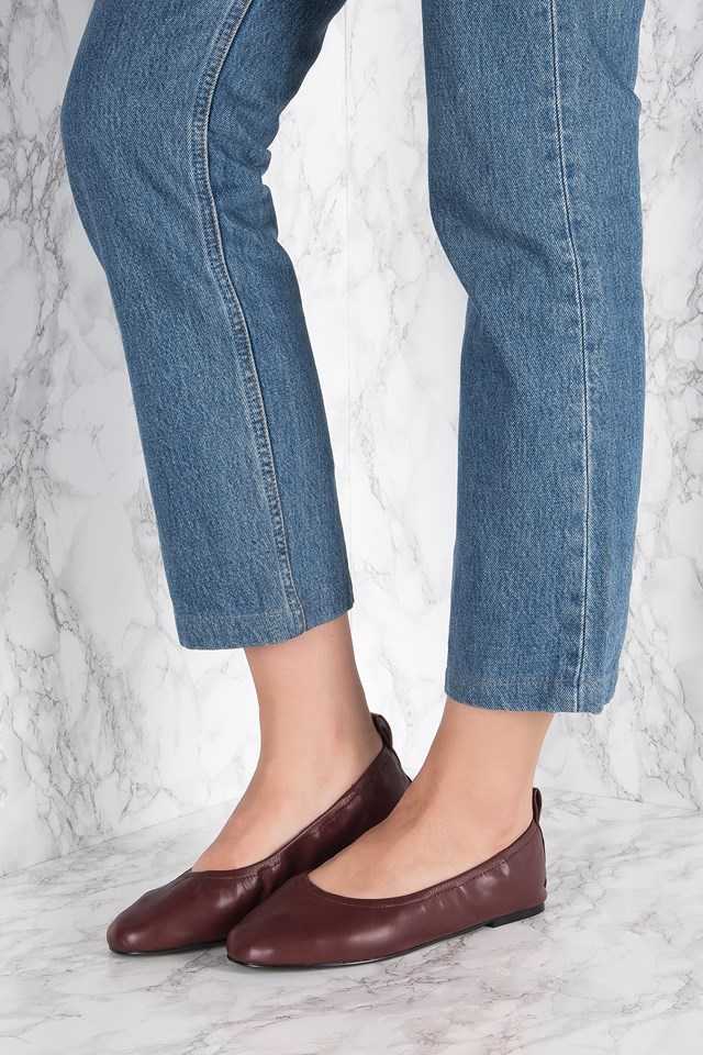 Stretch Ballerinas Burgundy