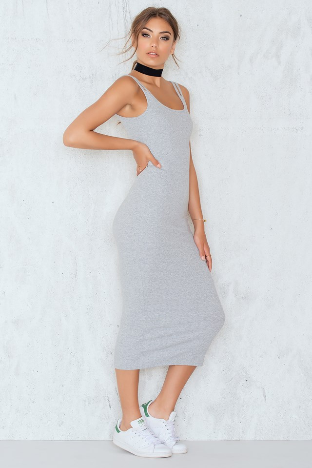 Atomic Dress Grey Melange