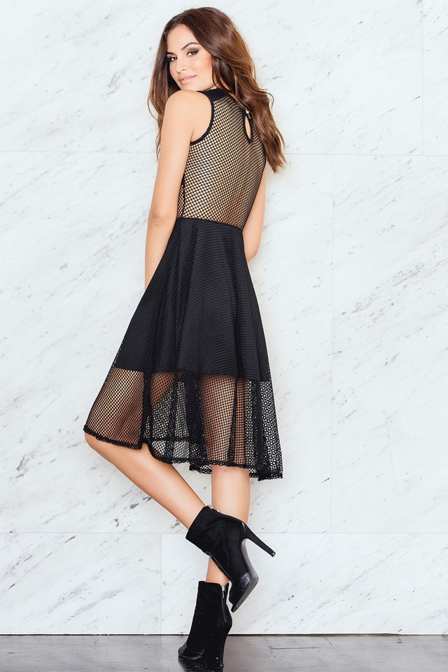 Net Dress Black