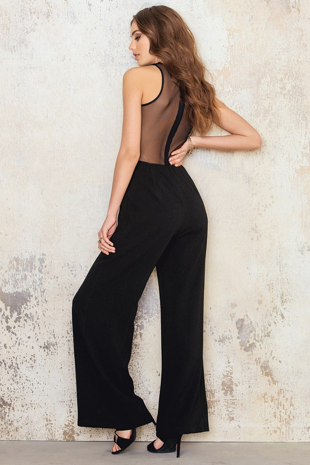 Sleeveless Jumpsuit With Mesh NA-KD.COM
