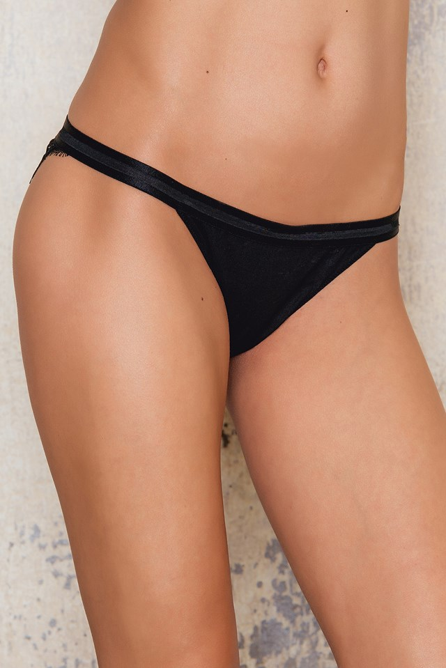 Wild Rose Panties Black
